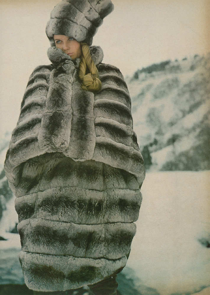 Veruschka clad in fabulous fur