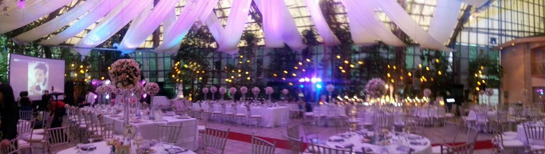 Reception inside the Glass Garden (Photo from Faye)