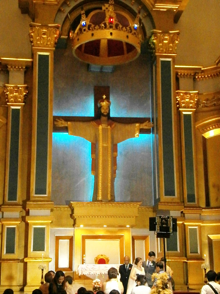 The altar of Christ the King Church