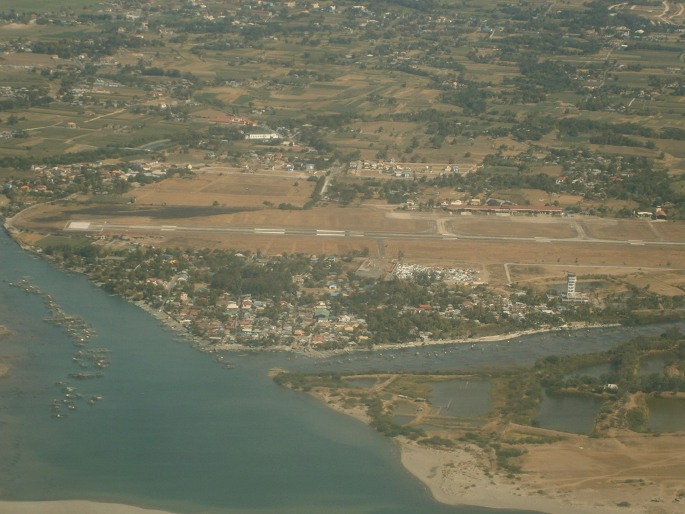 Laoag City International Airport seen from the plane