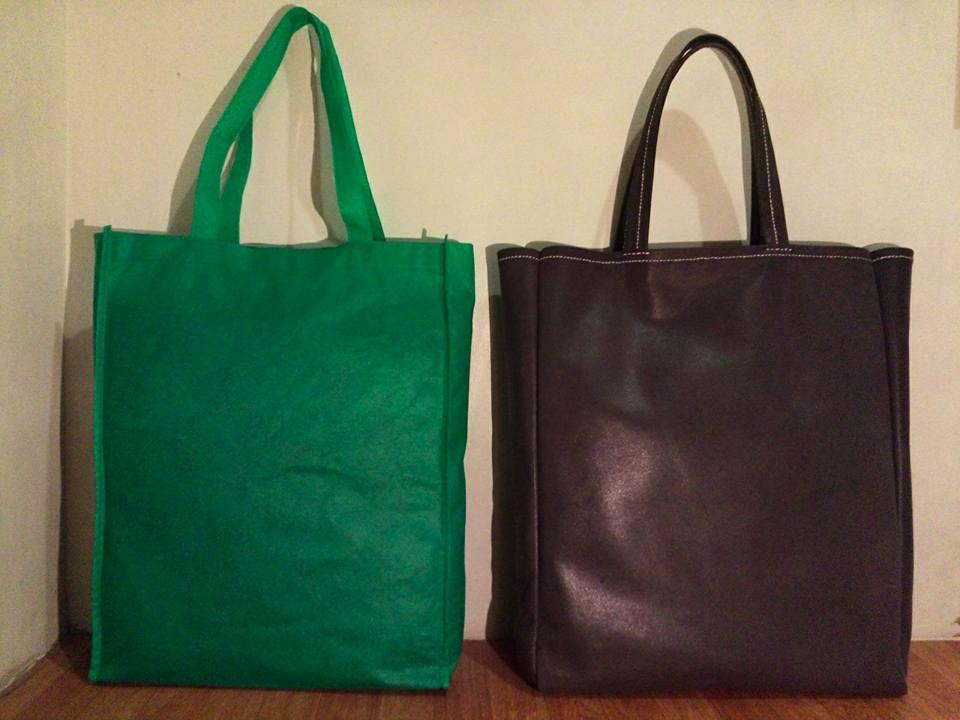 Inspiration and finished product - saddle stitch leather