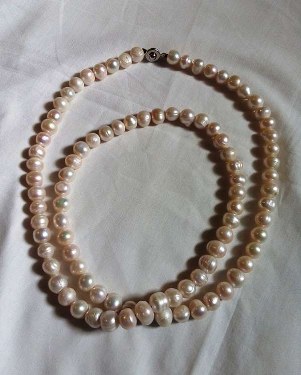 A string of freshwater pearls