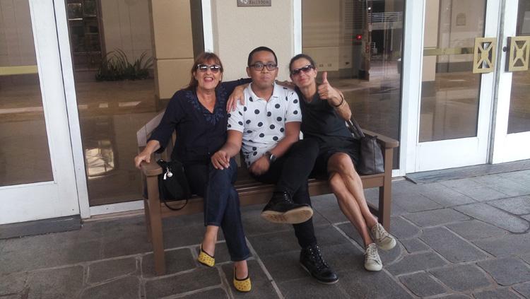 Avec Dominique et Lina