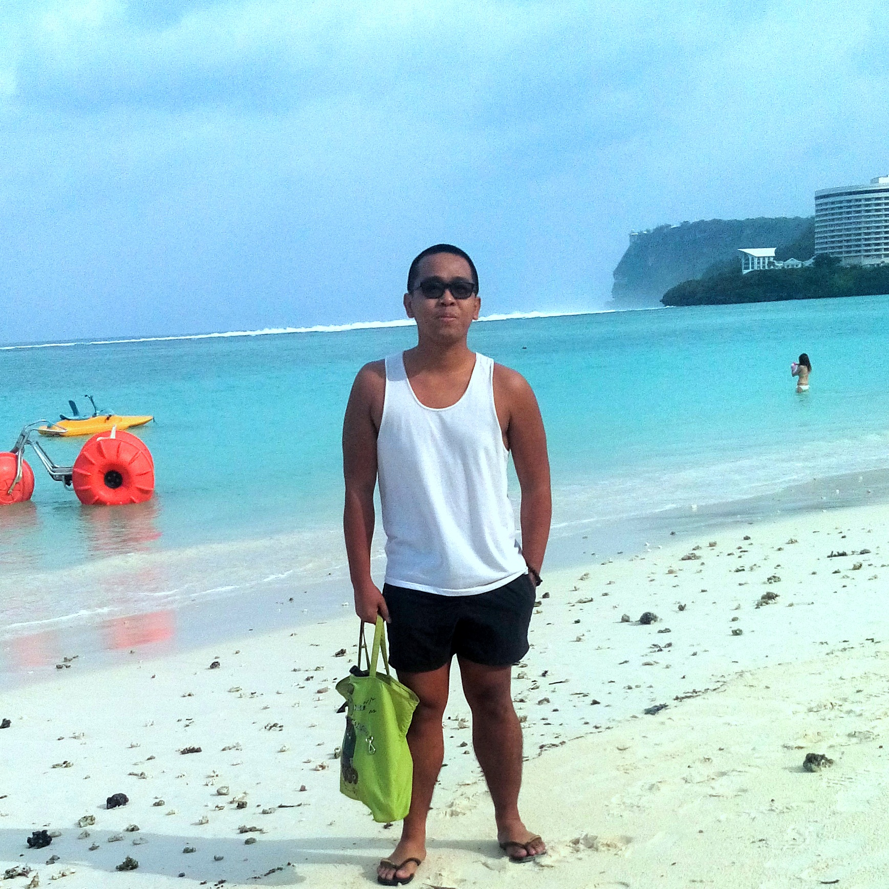 I can finally swim! Hey Tumon Bay