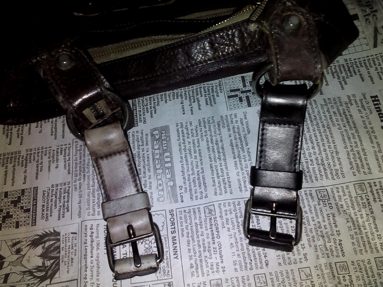 Before and after of the belt closure mechanism
