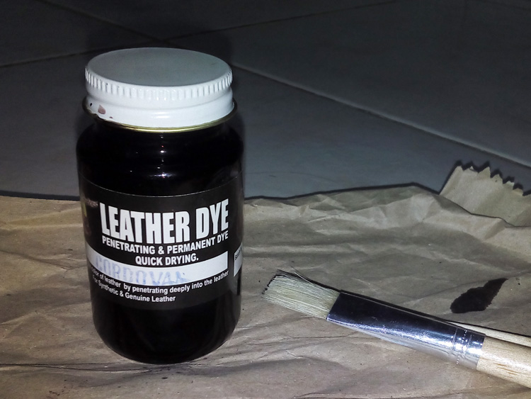 Leather dye in cordovan