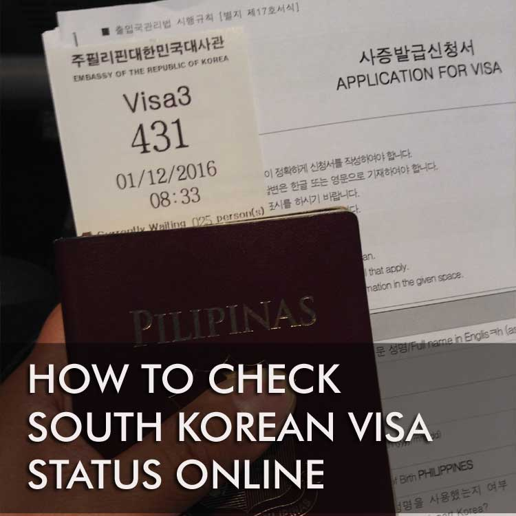 Checking Korean visa status online - BRYOLOGUE