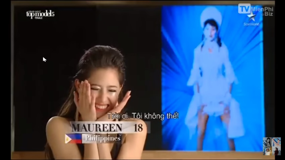 Maureen gushing over her victory in Asia's Next Top Model