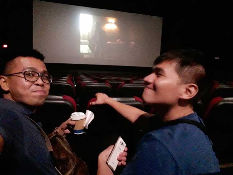 It's just us before the start of the movie