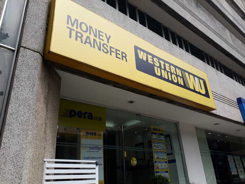 The Western Union branch in Aguirre, Makati --- a couple of minutes walk from Greenbelt 1