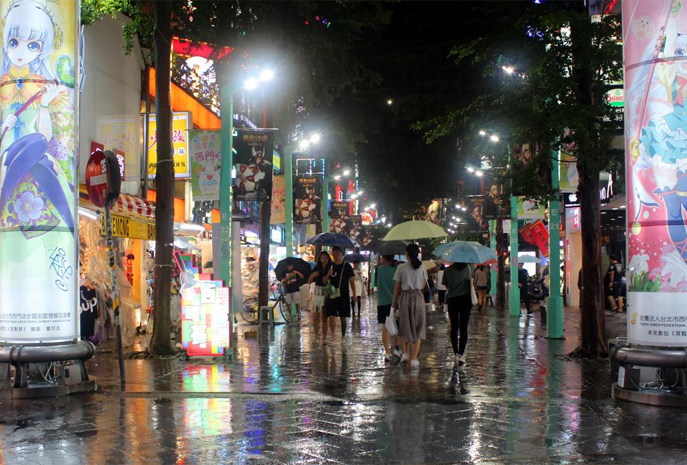 018 All wet Ximending Night Market