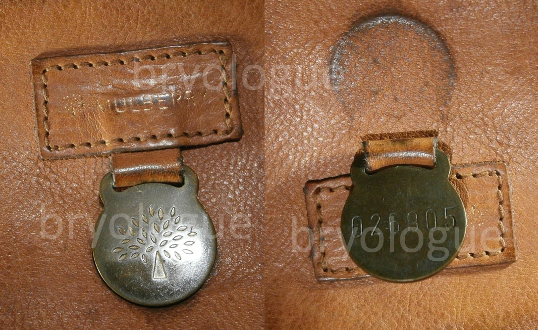 And another oldie font on this Mulberry Jamie bag, look how it was a number away from the infamous 026904 =)