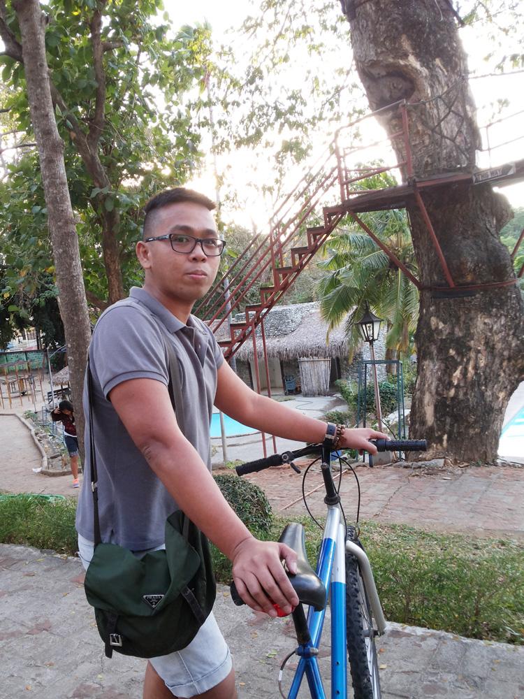 Biking around Laoag City