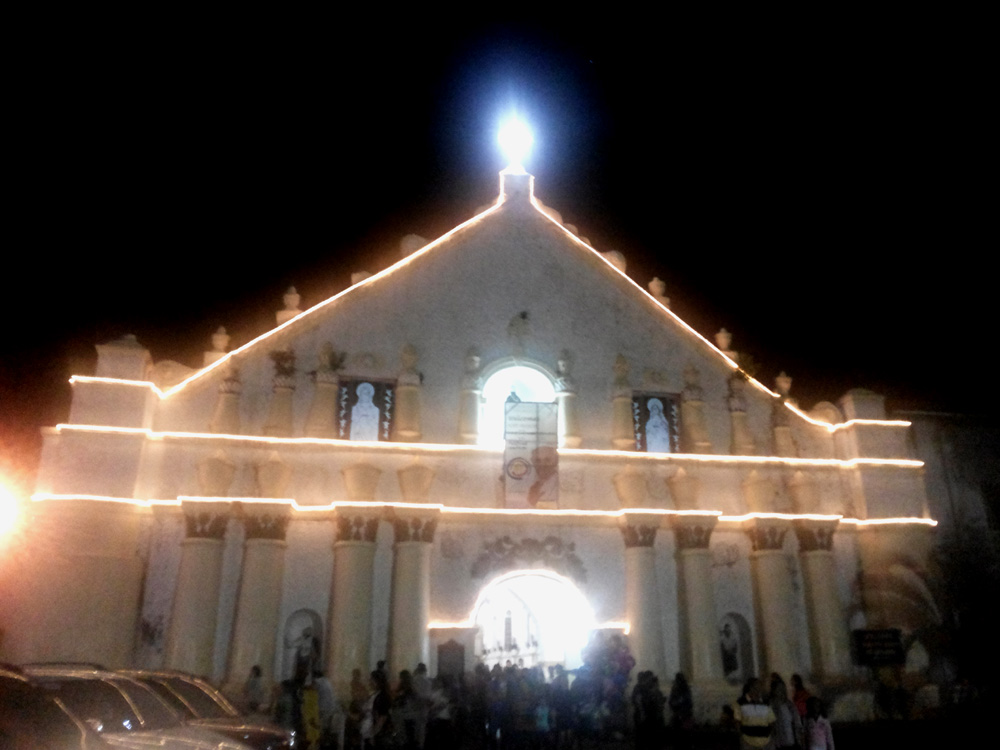 Laoag Cathedral at night