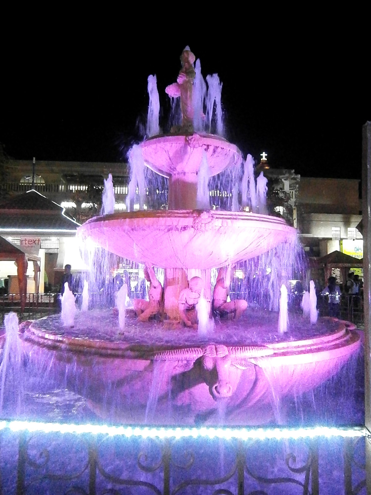 Lighted fountain in the provincial capitol