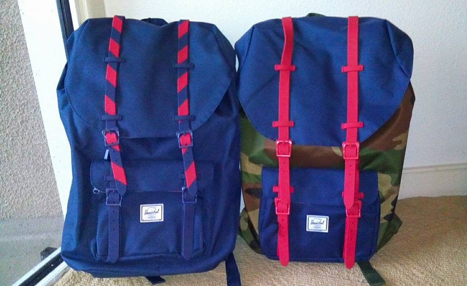 Two Herschel Little America backpacks for Mon and I