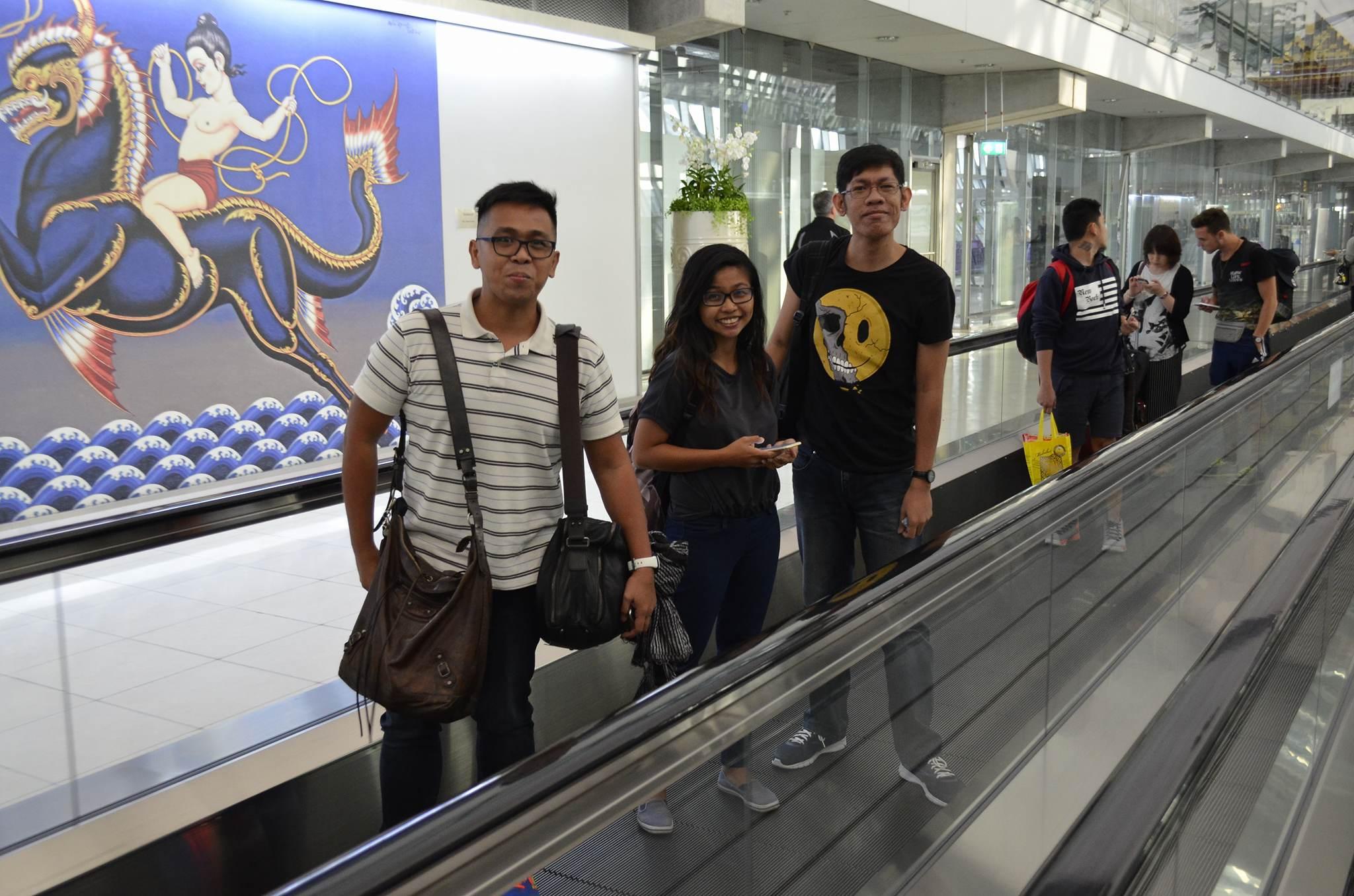 At Suvarnabhumi International Airport