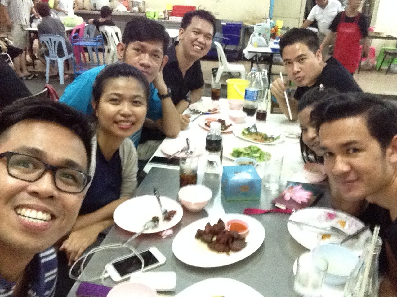 Dinner with colleagues from Myanmar