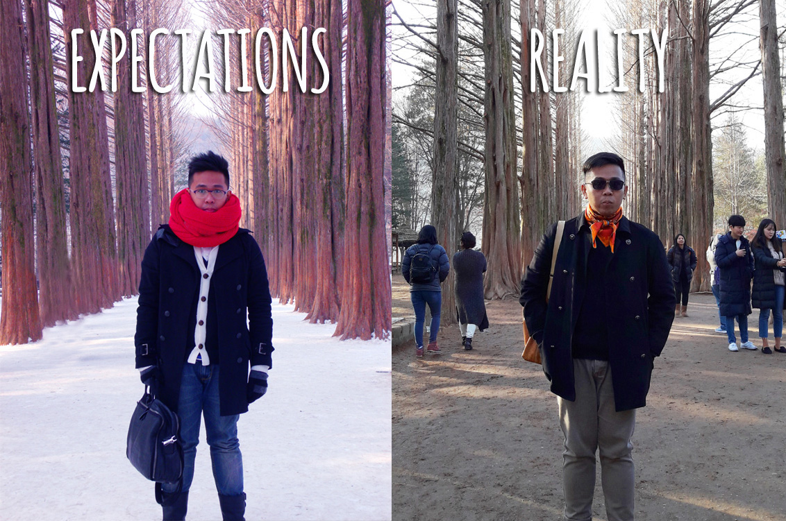 Expectations (December 2012) vs Reality (December 2016) - Nami Island