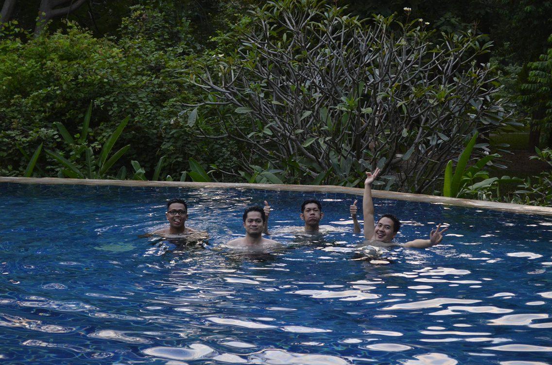 Of course we took a swim
