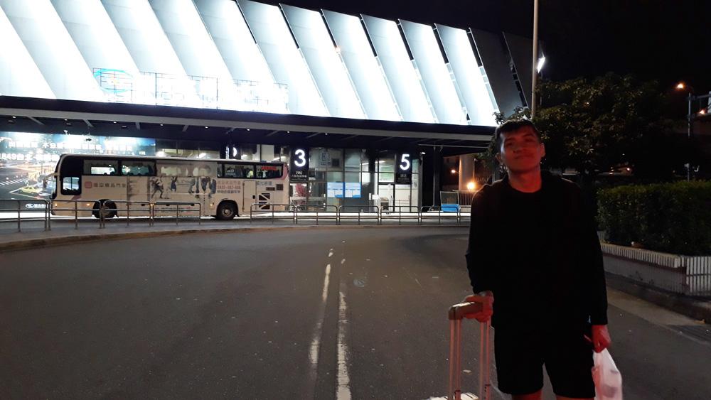 Arrived at Taipei Main Station at 03h10