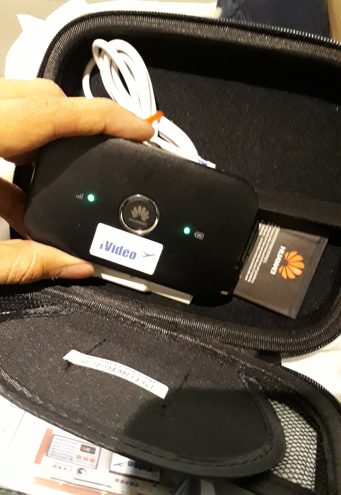 Pocket WiFi from iVideo in Taiwan