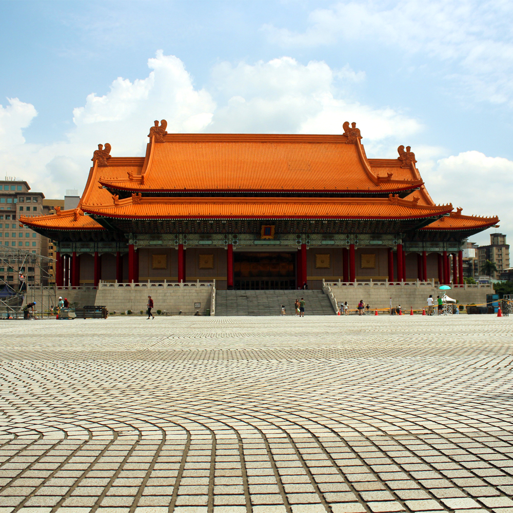 On the grounds of Chiang-Kai Shek Memorial Hall