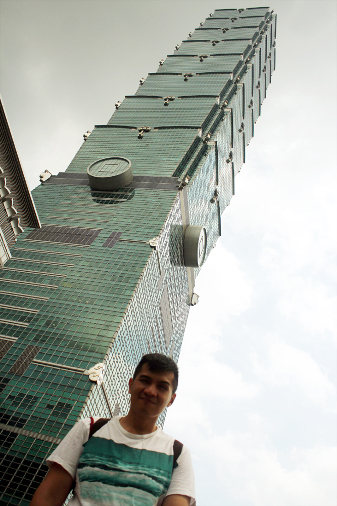 In front of Taipei 101