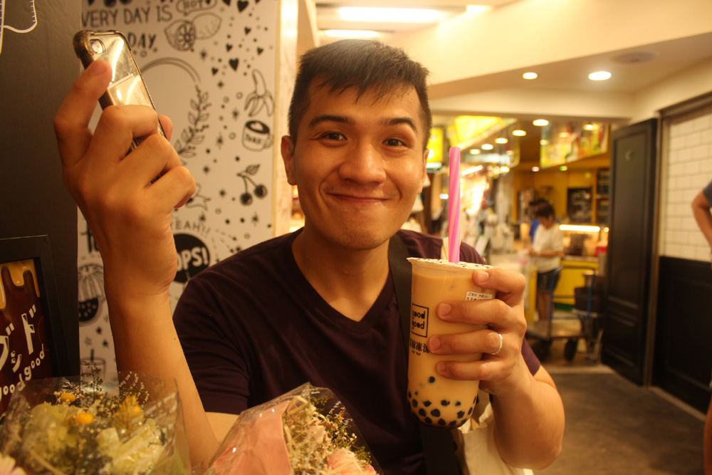 Our first and only milk tea of the trip