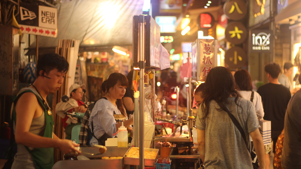 No time to sample the street food