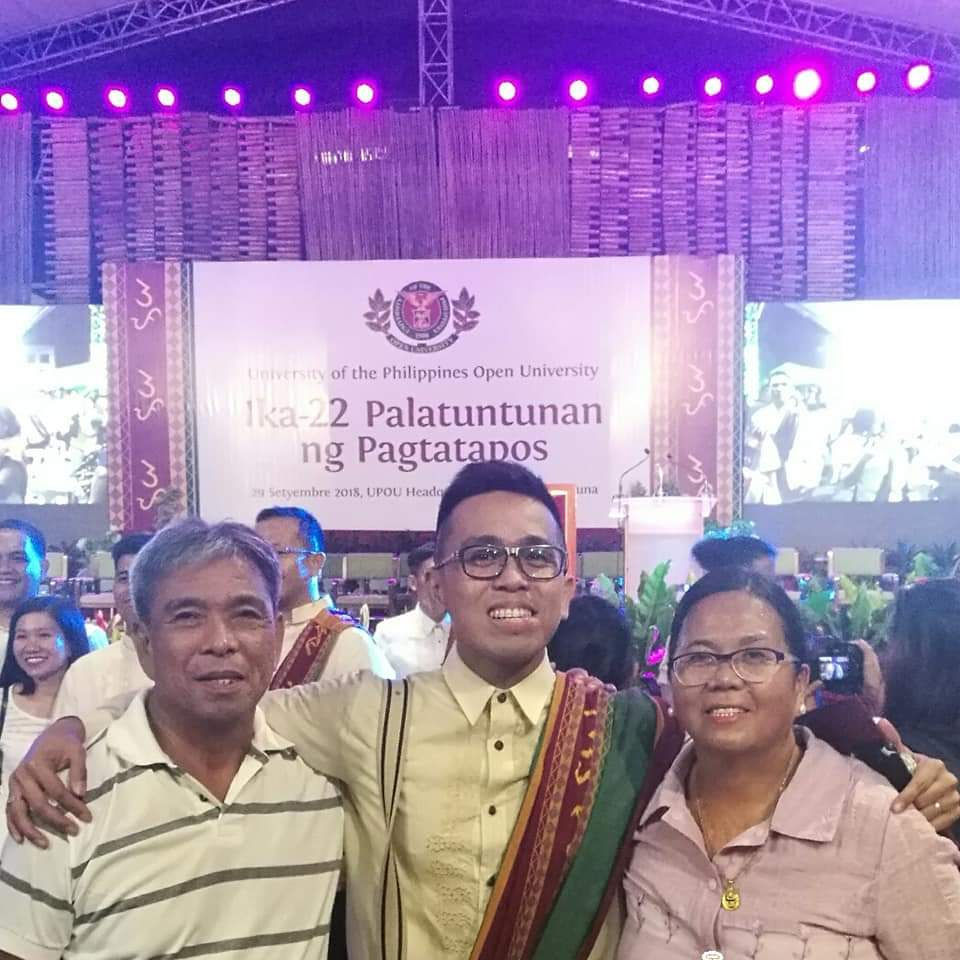 My fifth graduation, and finally a photo with both of my parents